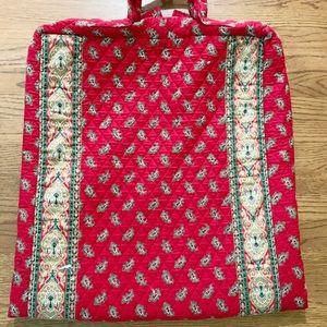 Vera Bradley red paisley dress length garment bag